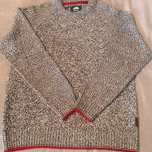 Men's large sized roots knit sweater